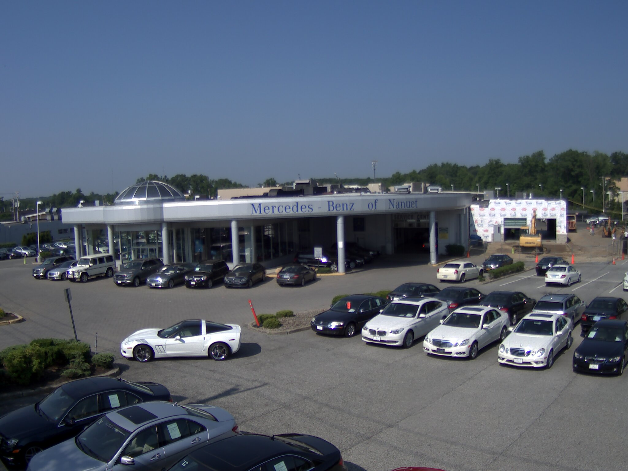 Truelook chosen to provide construction webcam during for Mercedes benz of nanuet nanuet ny