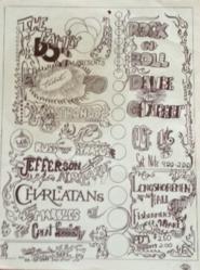1965 Dr. Strange Longshoremen Hall at Fishermen's Wharf in San Francisco Concert Poster