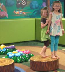 Children love the new indoor church playground at Grand Rapids First... and so do their parents.