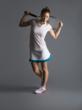 15love Mini Stripe Sport Tee & Ruffle Skort