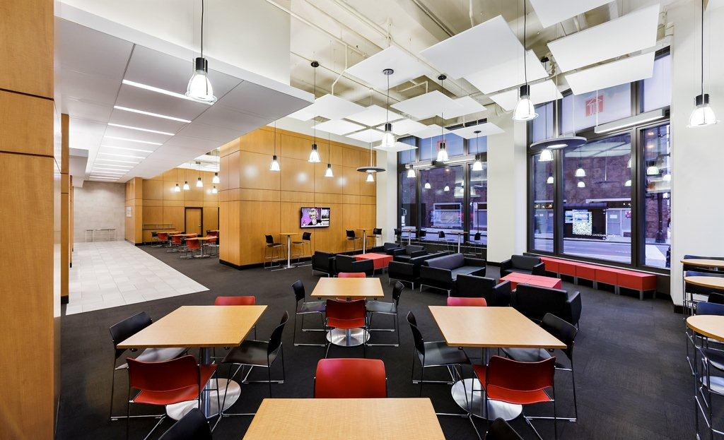 Renovated interior space at the john marshall law school - Top interior design schools in the us ...