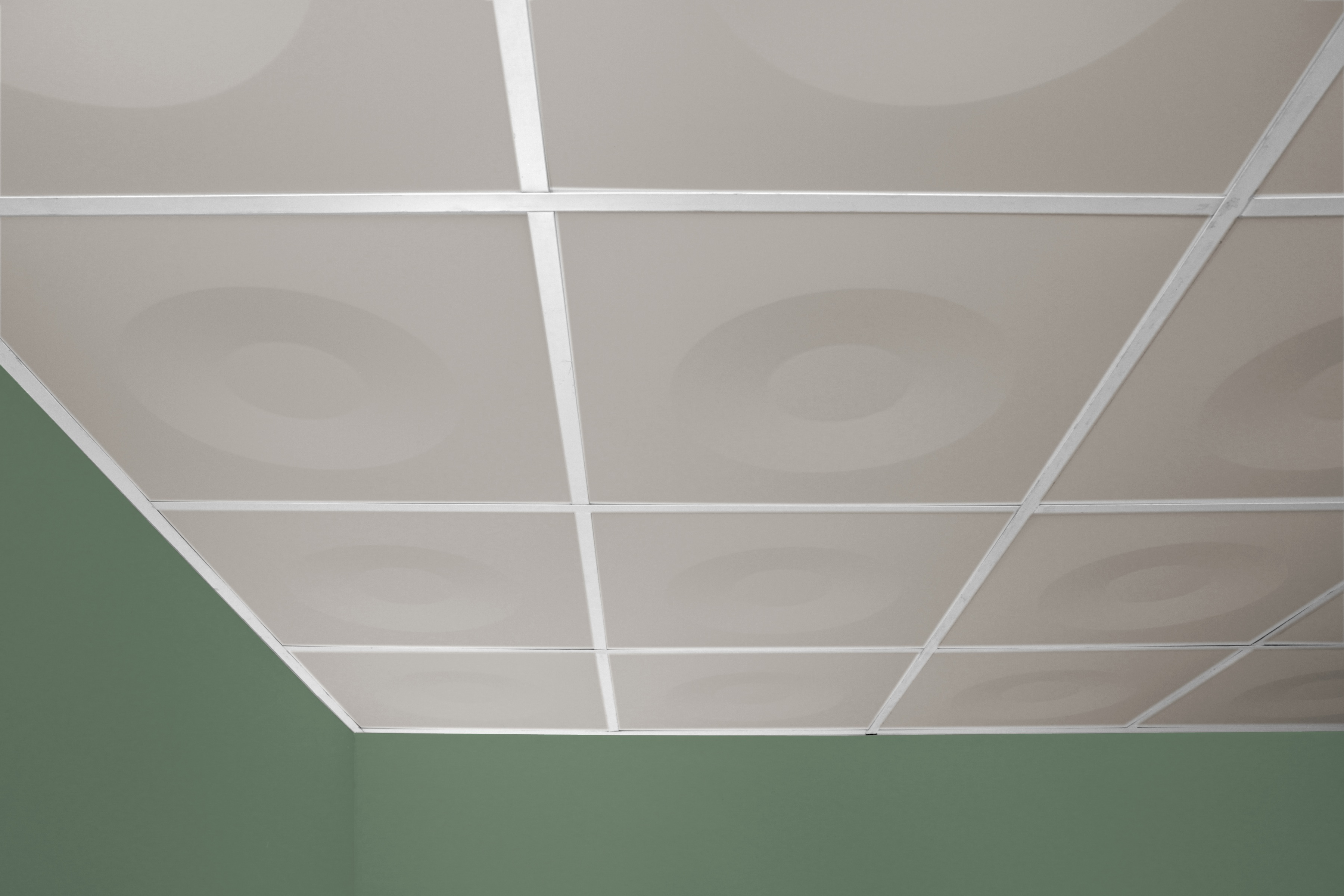 Ceilume launches fda compliant culinary ceiling tiles coup culinary ceiling tiles in latte installed in an actual ceiling dailygadgetfo Image collections