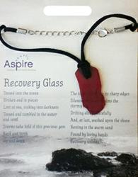 HIV-AIDS Care Recovery Glass Necklaces