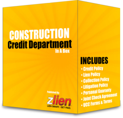 Construction Credit Department Templates, Forms and Information
