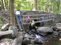 Adventures in Preservation volunteers restored Weisle Bridge, a project nominated by Andy deGruchy