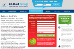 All About Savings is the UK's leading business electricity price comparison service