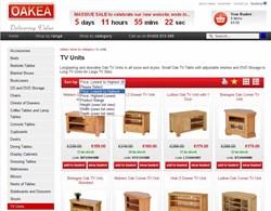 OAKEA's Oak furniture website