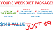 3 Week Diet Package
