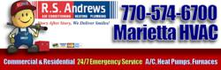 Trane, Carrier, Amana, Goodman, Lennox, Bryant 24/7 Heating and Air Conditioner Repairs in Marietta, GA by R.S. Andrews Heating and Air Conditioning