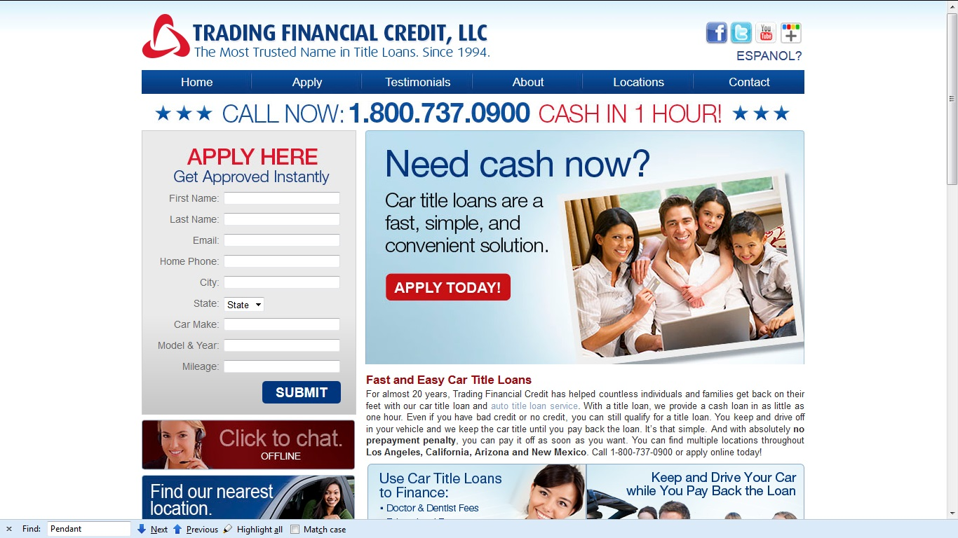 trading financial credit now offers cash in 1 hour on car title loan. Black Bedroom Furniture Sets. Home Design Ideas
