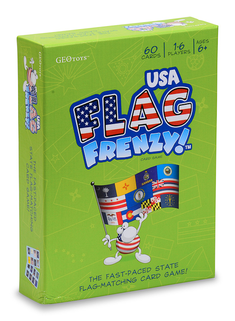 Flag Frenzy Usa Card Game A Fast And Furious Way To Learn State Flags