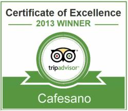 cafesano tripadvisor certificate of excellence