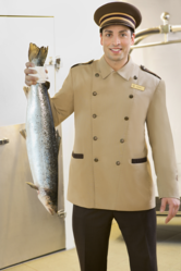 The Vancouver Airport hotel's official 'Fish Valet', 'checks' the fish into a 575-cubic foot freezer, where it's then stored until the guest departs for their journey home.