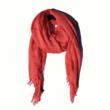 Oversized Coral Frayed Edge Scarf