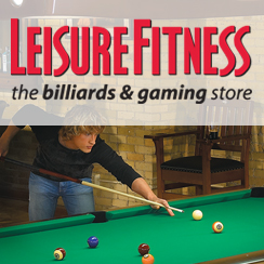 Leisure Fitness Tysons Corner location in McLean, VA now offers a full selection of Brunswick Billiards.