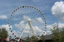 The Great Smoky Mountain Wheel at the Island in Pigeon Forge takes guests 200 feet into the air for breathtaking views of the scenic Smoky Mountains.