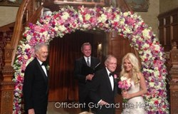 wedding officiant, Hugh Hefner wedding