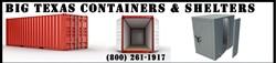 Big Texas Containers | tornado shelters, safe rooms, and shipping containers | http://bigtexascontainers.com/Home.html |