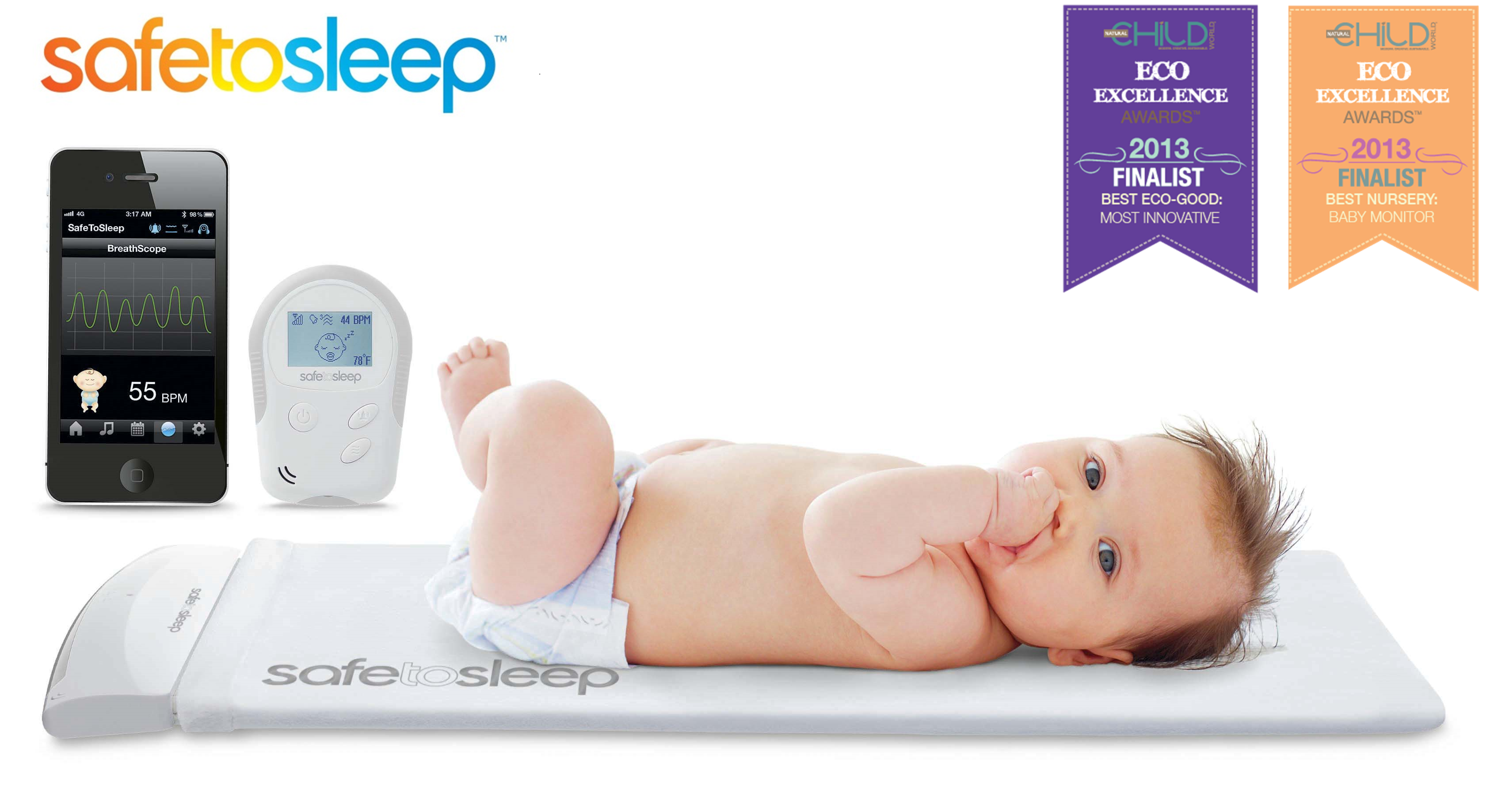 safetosleep baby monitor named as finalist for best innovation and best baby monitor of 2013. Black Bedroom Furniture Sets. Home Design Ideas