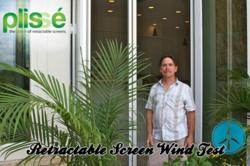 Retractable Screen Wind Test by Screen Solutions Inc