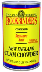 All NAtural & Gluten Free Clam Chowder from Bookbinders
