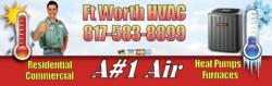 A#1 Air HVAC 817-583-8899 is a Top Rated Air Conditioning Repair Contractor in Ft Worth, TX. Call now for Repair on Trane, Carrier, Lennox, Bryant, Maytag and other top brands.