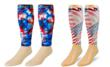 Zensah's® USA Tie Dye and American Flag Compression Leg Sleeves...