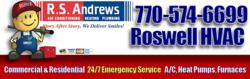 R.S. Andrews HVAC 770-574-6699 is a Top Rated Air Conditioning Repair Contractor in Roswell, GA. Call now for Repair on Trane, Carrier, Lennox, Bryant, Amana, Goodman and other top brands.