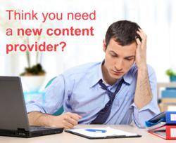 Think you need a new content provider?