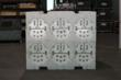 6 fully loaded ½ baskets onto the Stackable Tolling Pallet