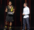 Shaun T and Carl Daikeler on stage at the Beachbody Coach Summit