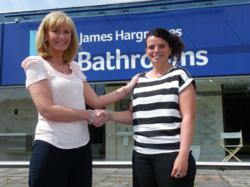 Burnley Showroom Manager Michelle Leadbetter with Donna Catlow