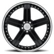 Mandrus Mercedes Wheels - the Stuttgart in Gloss Black with a Mirror Cut Lip