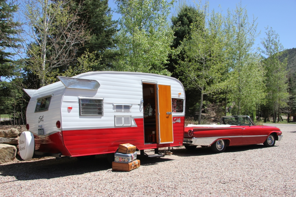 1961 Ford Galaxie Sunliner Pulling A 1962 Shastacreated By Retro Trailer Design
