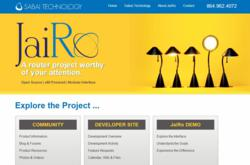 Screen shot of the JaiRoProject.com website