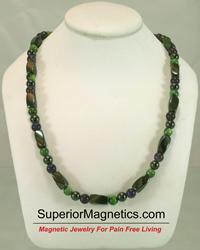 gemstone magnetic necklace