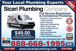 www.sicariplumbing.com | Sicari Plumbing now offering Flat Rate Plumbing in Burbank, Canoga Park, Canyon Country, Encino, Glendale, North Hollywood, Woodland Hills, Studio City, Valencia and All of Los Angeles