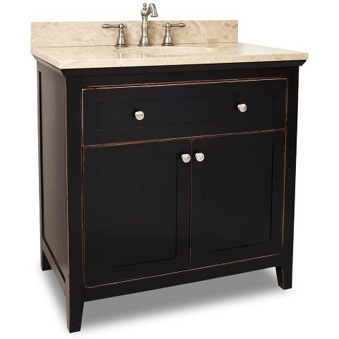 Excellent Bellaterra Home 203037 Black Bathroom Vanity Black Granite Countertop