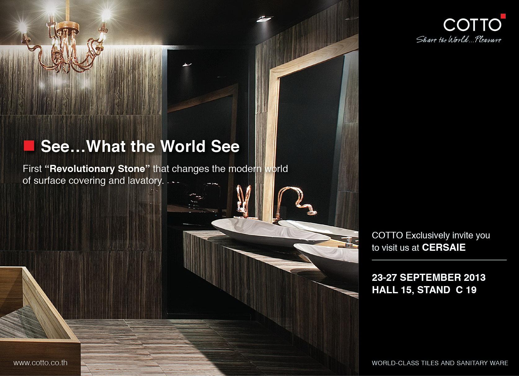 COTTO showcases its unique texture porcelain tiles and the ...