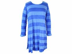 COMFY USA Royal & Cornflower Blue Striped Tunic Top S-1X
