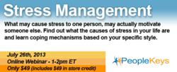 PeopleKeys Stress Management Webinar