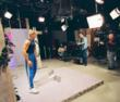 "Fitness star John Basedow filming one of his hit ""Fitness Made Simple"" videos at JHD-DCI studio."