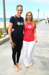 Elisabeth Röhm and Kerri Walsh Jennings ASICS World Series of Beach Volleyball