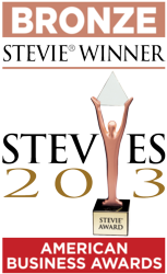 2013 Bronze Stevie Award Winner