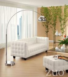 Zuo Modern Button Sofa White 900251