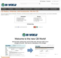 New CB World Website Preview