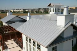 Standing metal seam roof in Orlando