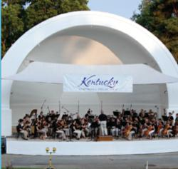 The Kentucky Symphony Orchestra in Covington, KY's Devou Park.