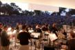 Looking out from behind the stage during a Kentucky Symphony Orchestra concert in Covington's Devou Park.