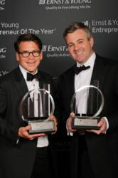 @properties co-founders Thaddeus Wong (L) and Michael Golden (R) win the Ernst & Young Entrepreneur Of The Year® 2013 Award in the Midwest